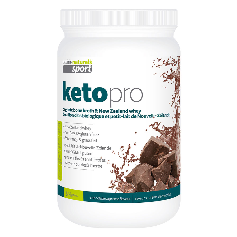 : Prairie Naturals KetoPro Bone Broth Protein, Chocolate