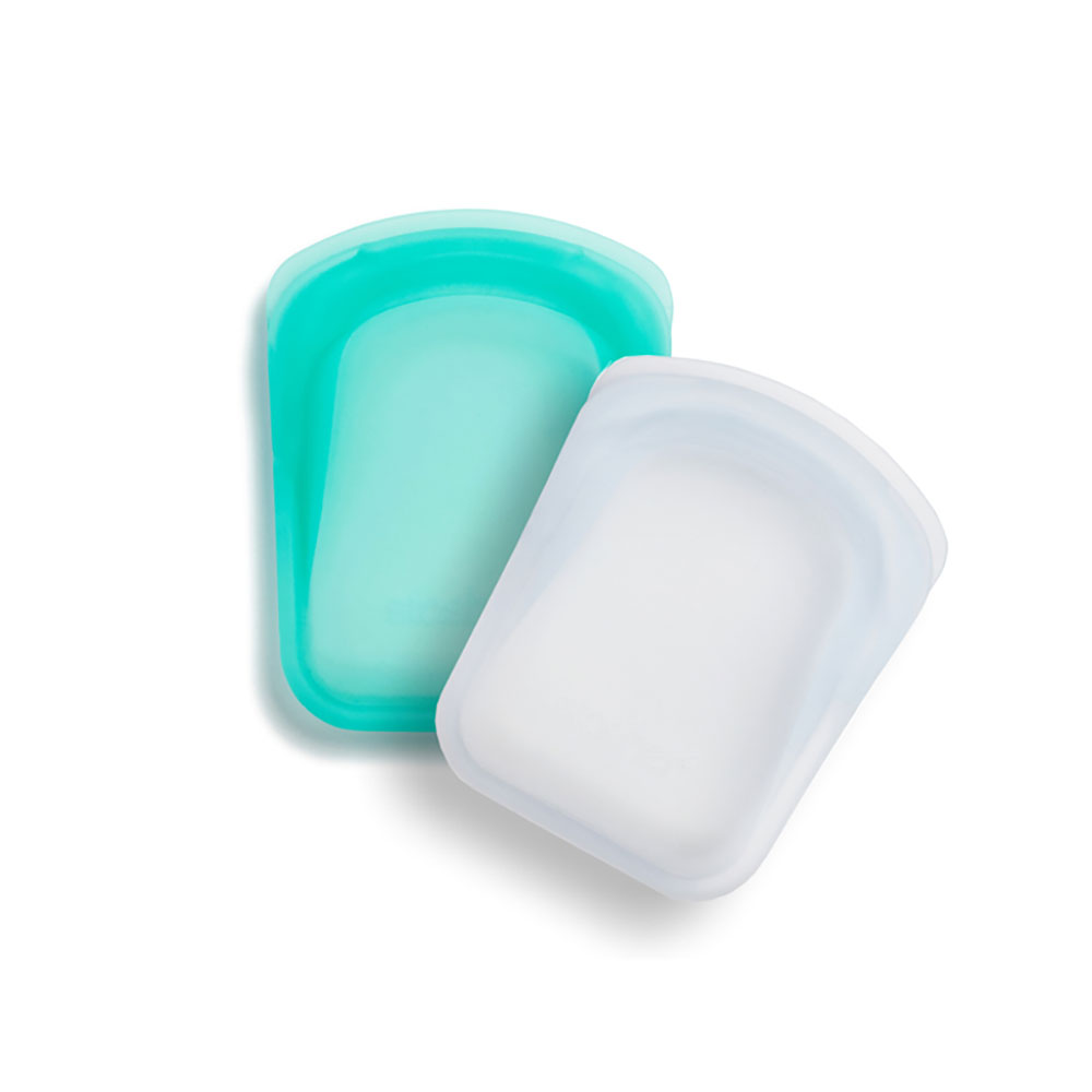 : Stasher Pocket Bag 2/Pack (Clear/Aqua)