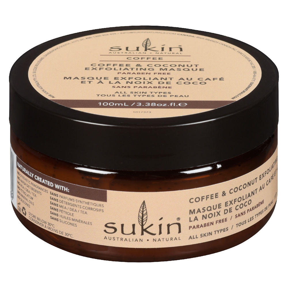 : Sukin Coffee & Coconut Exfoliating Facial Masque 100ml